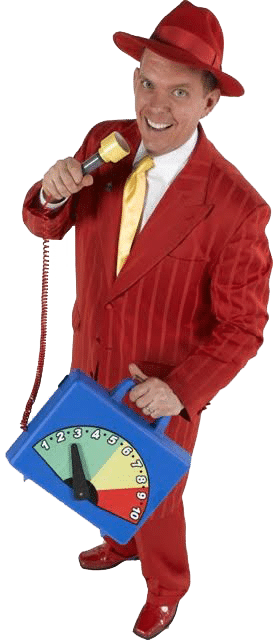 Doug Scheer in red suit