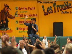 Les Trouble School Show audience