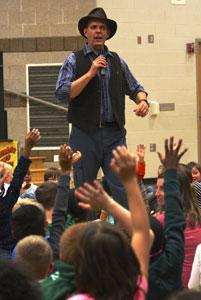 Doug Scheer presents elementary show respect week