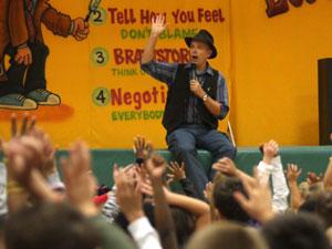 detective magic show for schools