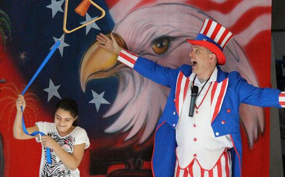 Patriotism show for k-6 schools