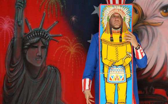 Doug Scheer presents American history magic show for schools