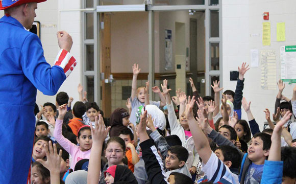 children participate in fun constitution day assembly