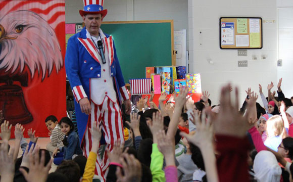 children at Bill of rights elementary show