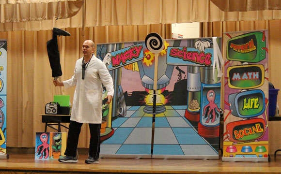 learning science with zany fun with the Wacky Science show