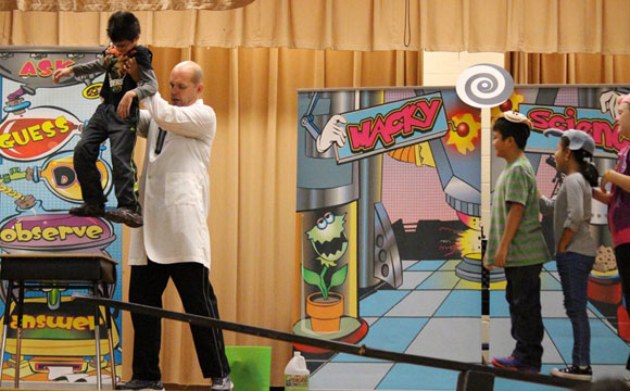 wacky science show for elementary schools in Michigan